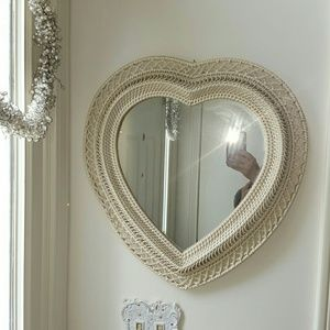 Vintage Wicker Rattan Mirror